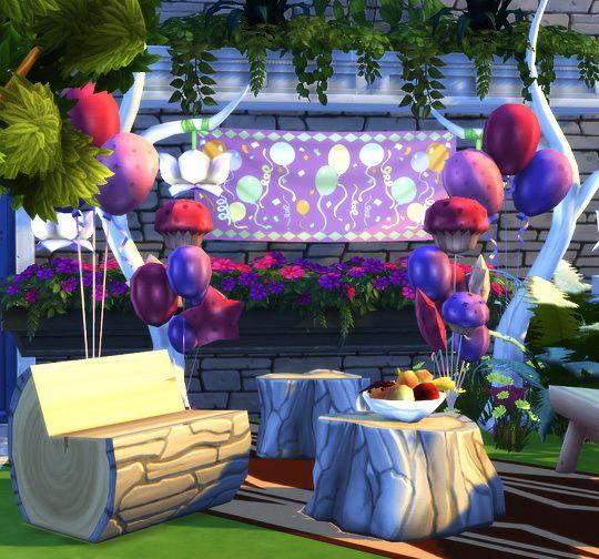 Party Decor Ts3 To Ts4 Conversion At Soloriya Via Sims 4