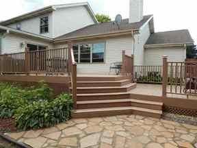 New multi-level composite deck. Email noplacelikehome@kw.com for more details.