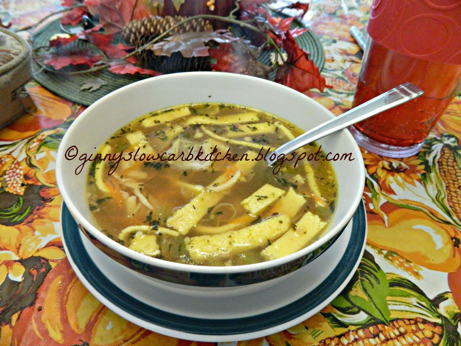 Ginny's Low Carb Kitchen: CHICKEN NOODLE SOUP, LC, GF