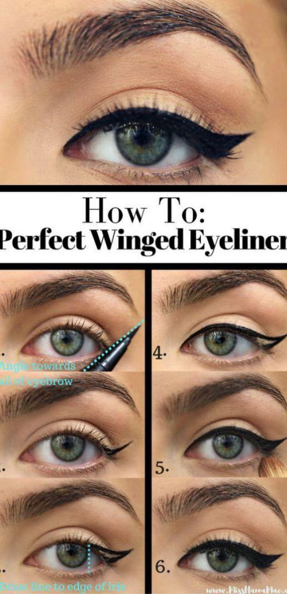 10 einfache Schritt-für-Schritt-Eyeliner-Tutorials für Anfänger ... 10 einfache Schritt-für-Sch