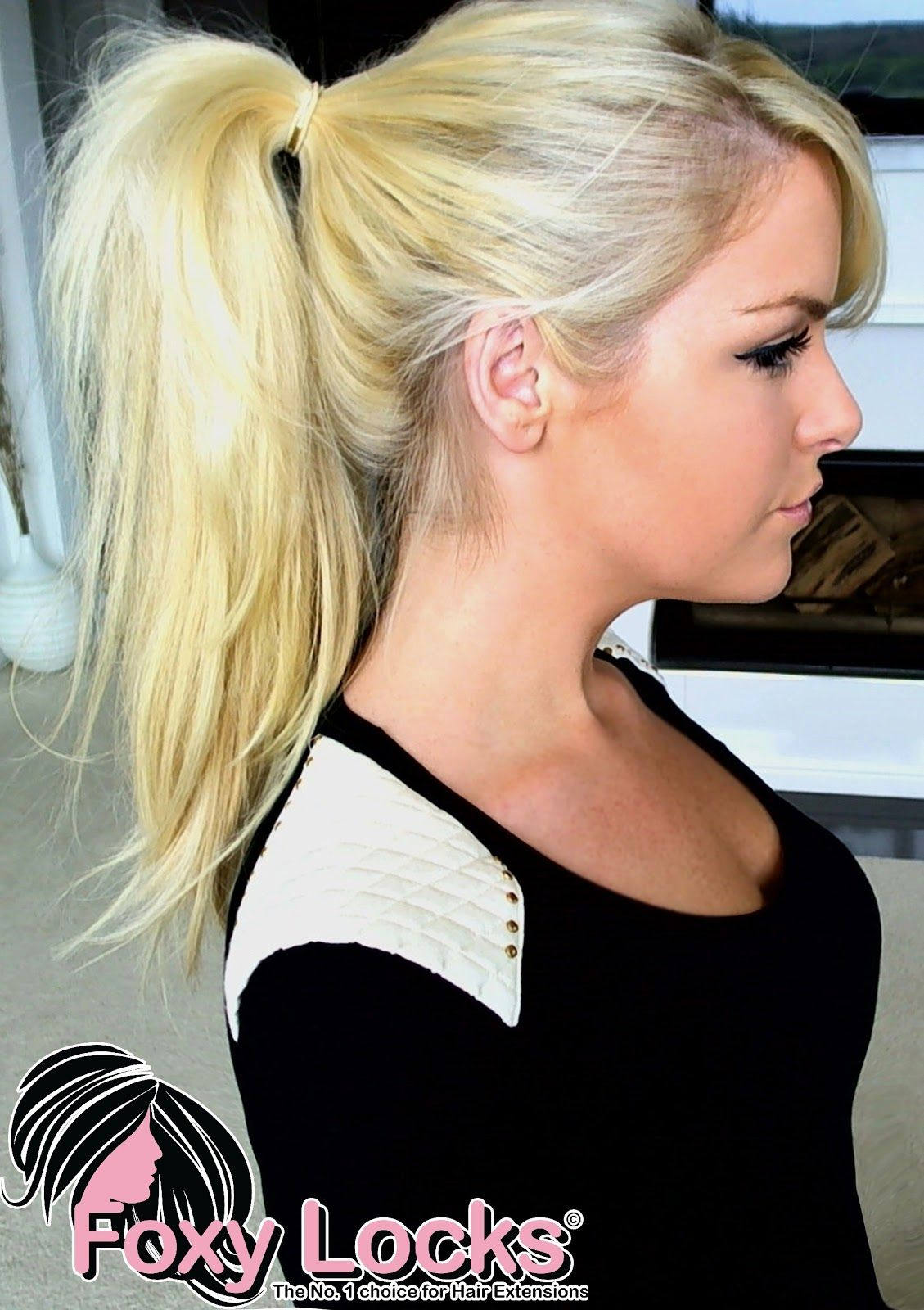 Imogen Foxy Locks How To Put Your Hair Up Ponytail Using Clip In