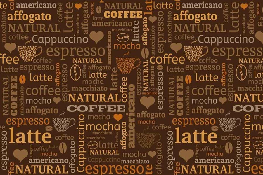 Coffee Beans And Text Graphic Coffee Wallpaper Walls And Murals Coffee Wallpaper Ipad Wallpaper Seamless Background