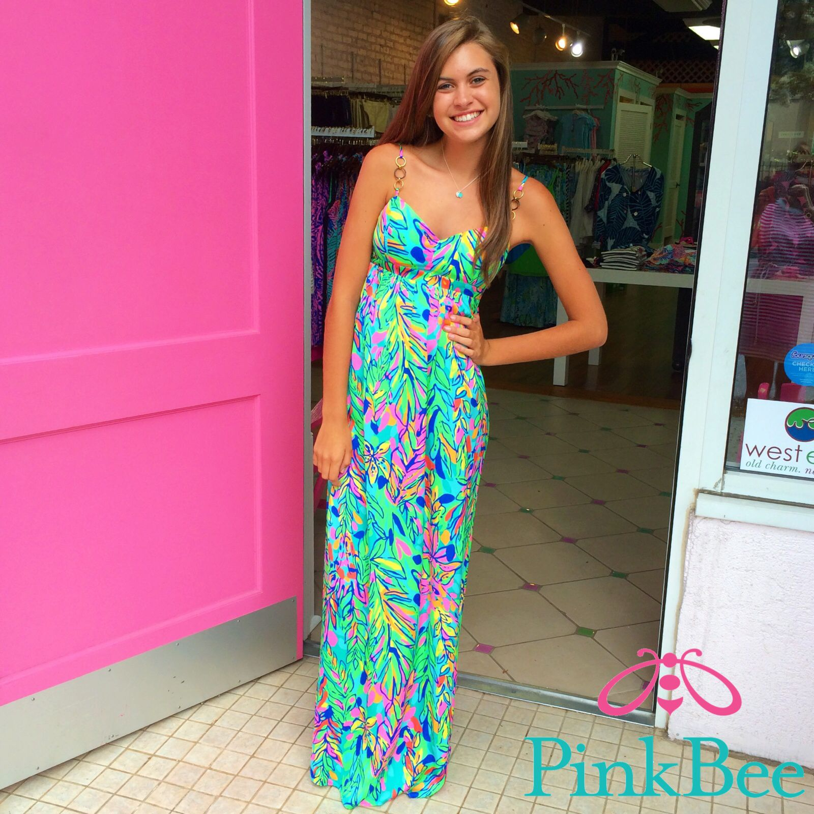 Joanna Maxi Lilly Pulitzer Pink Bee Greenville, SC | Lilly Pulitzer ...