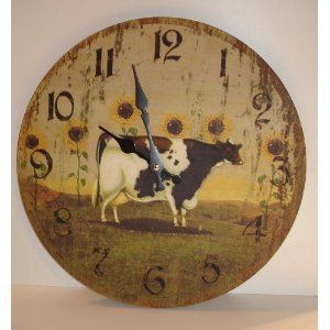 Cow Clock For My Country Kitchen Kitchen Decor Themes Cow Kitchen Theme Turquoise Kitchen Decor