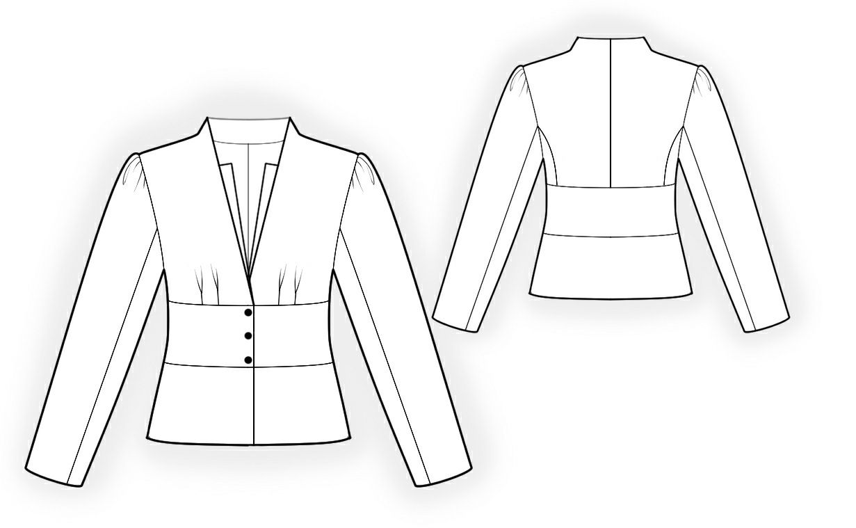 Jacket - Sewing Pattern #4223 Made-to-measure sewing pattern from ...