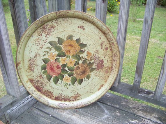 Vintage Beautiful Shabby Rusty Extra Large Round by AlloftheAbove, $50.00