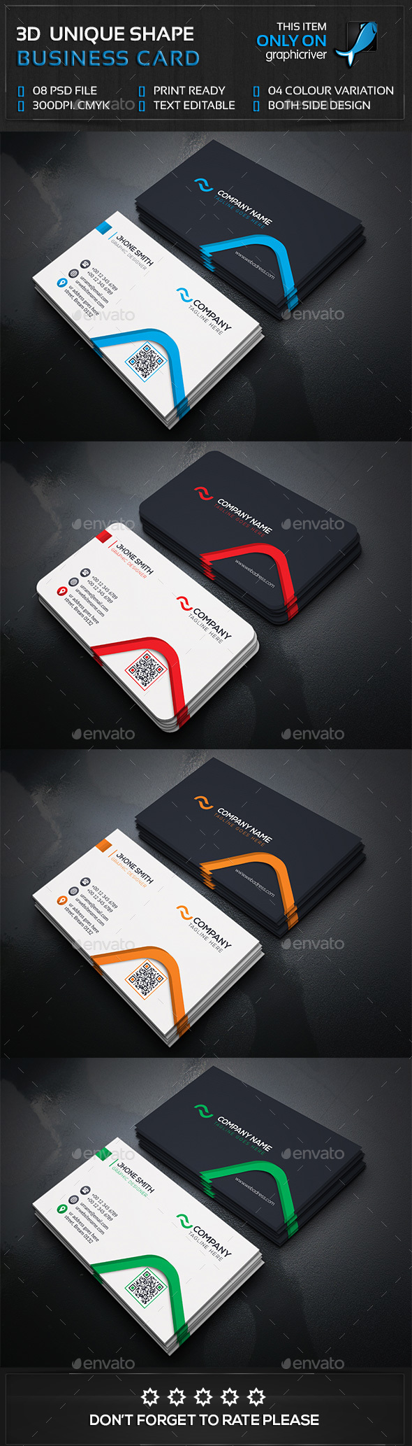 Corporate Business Card — Photoshop PSD #round card #business card ...