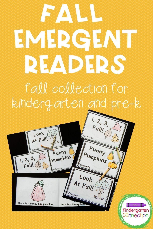 Emergent Readers Fall Collection Kindergarten Learning Activities Literacy Activities Kindergarten Kindergarten Learning Ready to go fall literacy pack