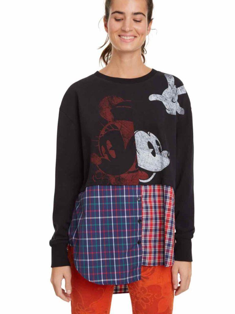 Desigual Hybrid Sweatshirt Mickey Mouse Annarau Sweatshirts Mickey Mouse Sweatshirt Mickey Sweatshirt