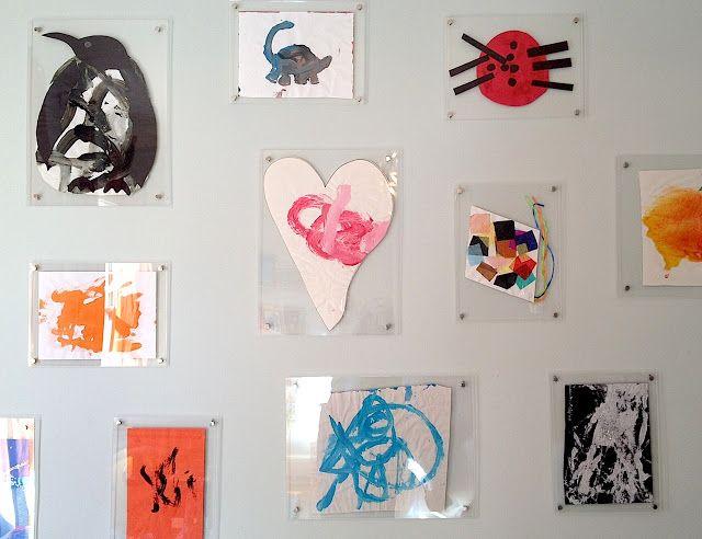 bryn alexandra a way to hang art in mass using muji acrylic frames - Muji Frames