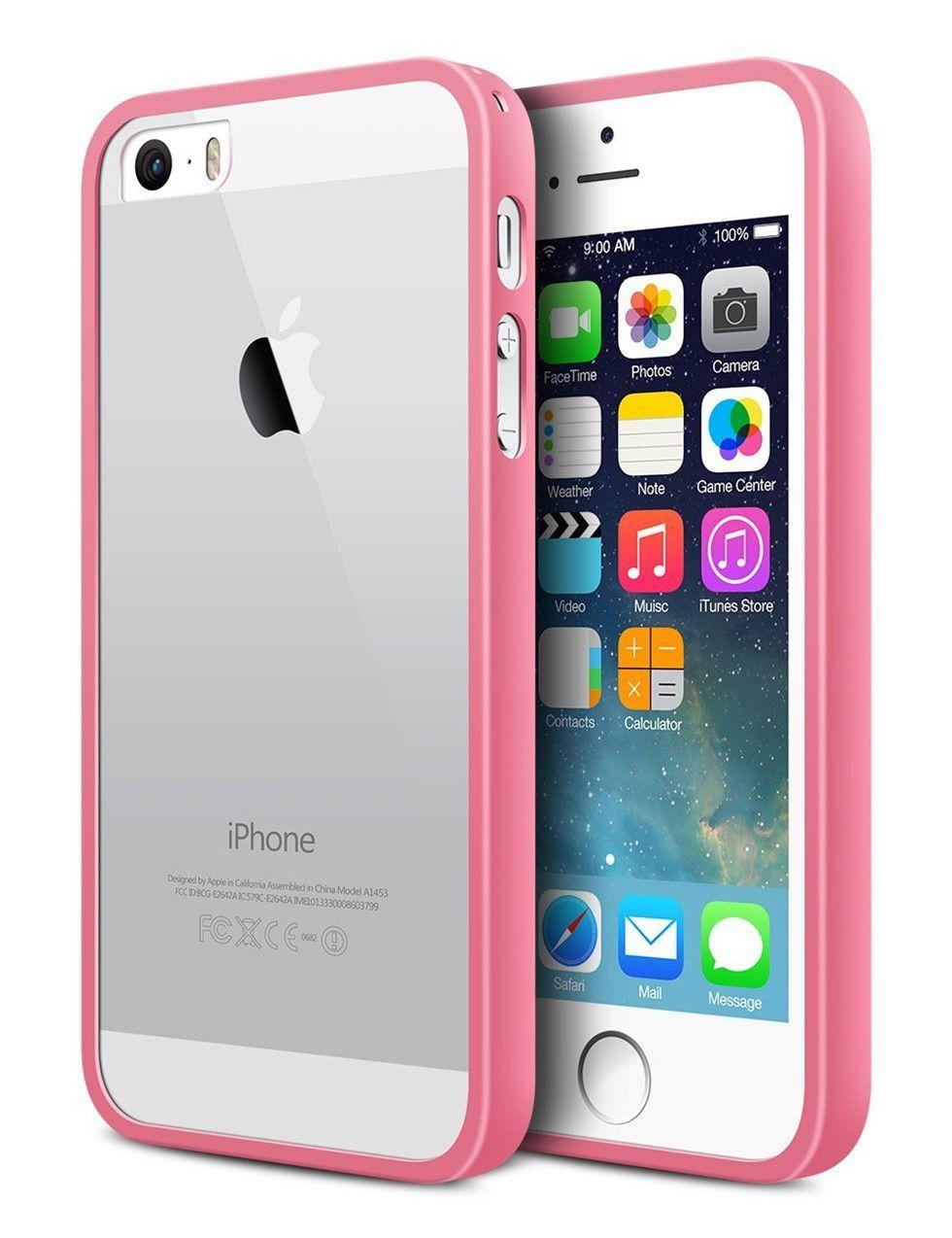 Apple iPhone Case Cover 5s Transparent Slim Bumper Anti