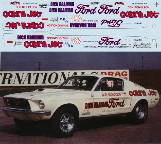 Don Nicholson 1968 Mustang Cobra Jet Nhra Drag Brannan Dick