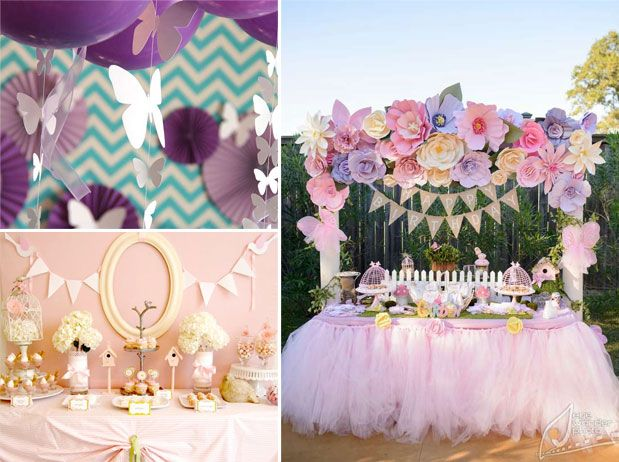 April showers girl baby shower themes for spring baby for Baby shower decoration themes for girls