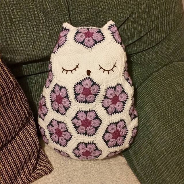 louizamakes #crochet owl cushion   Crochet   Pinterest   Maus häkeln ...