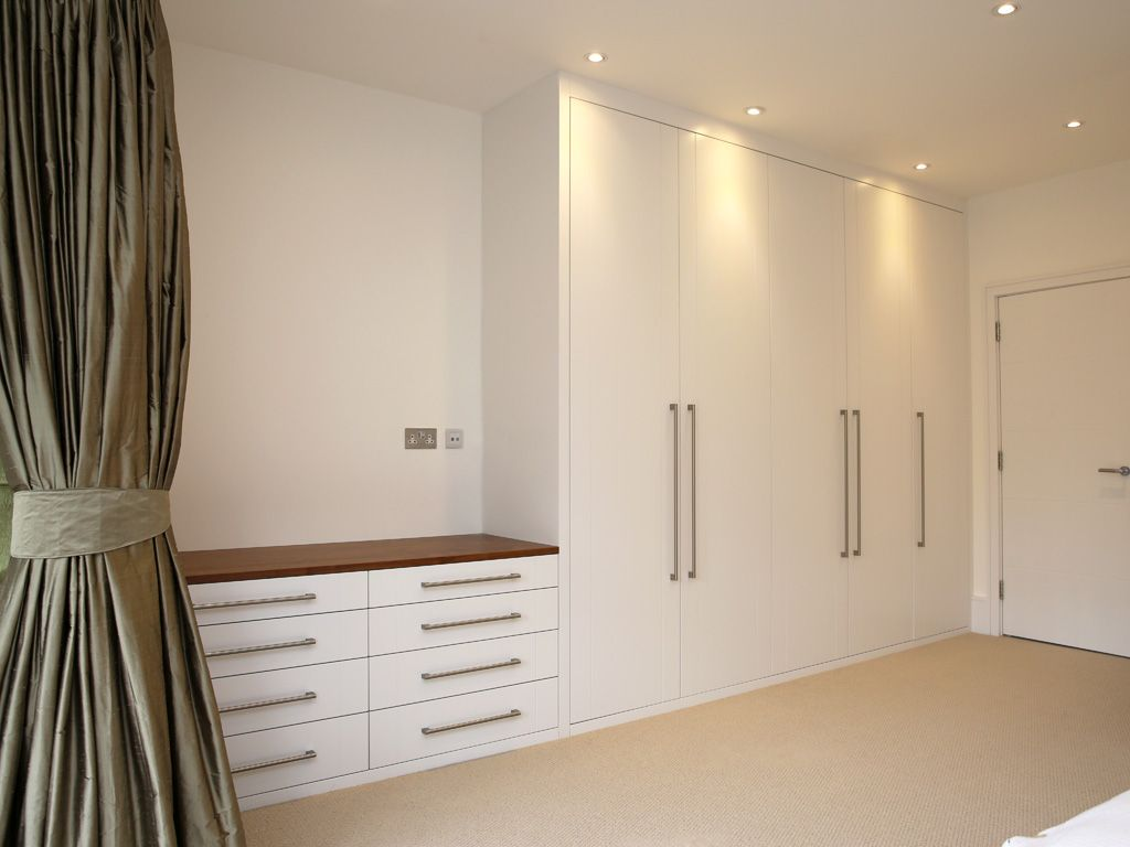 Built Fitted Wardrobe White Chest Drawers Modern Bedroom ...