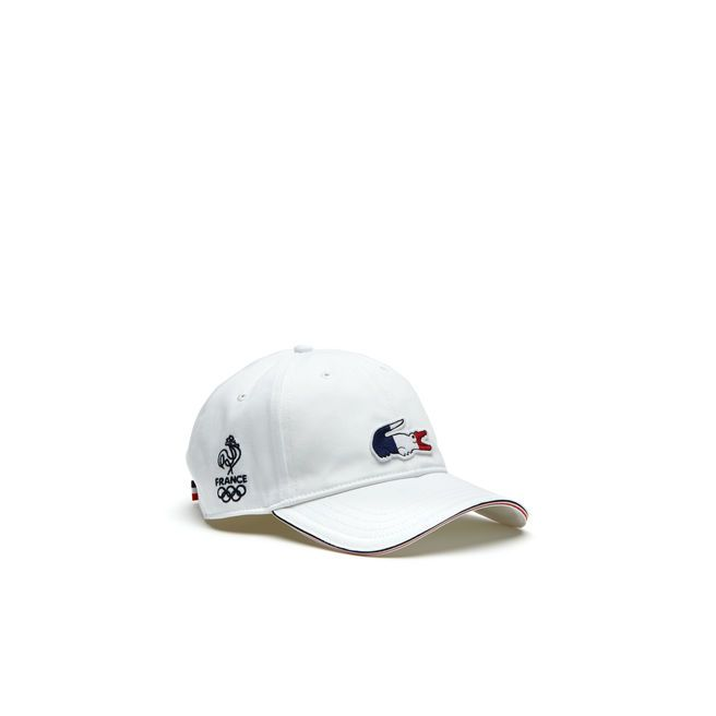 Red White And Blue Along The Visor Of This Unisex Cap In Cotton Gabardine Brings A Smart Accent To This Lacoste Sport Lacoste Sport Lacoste Baseball Caps Mens