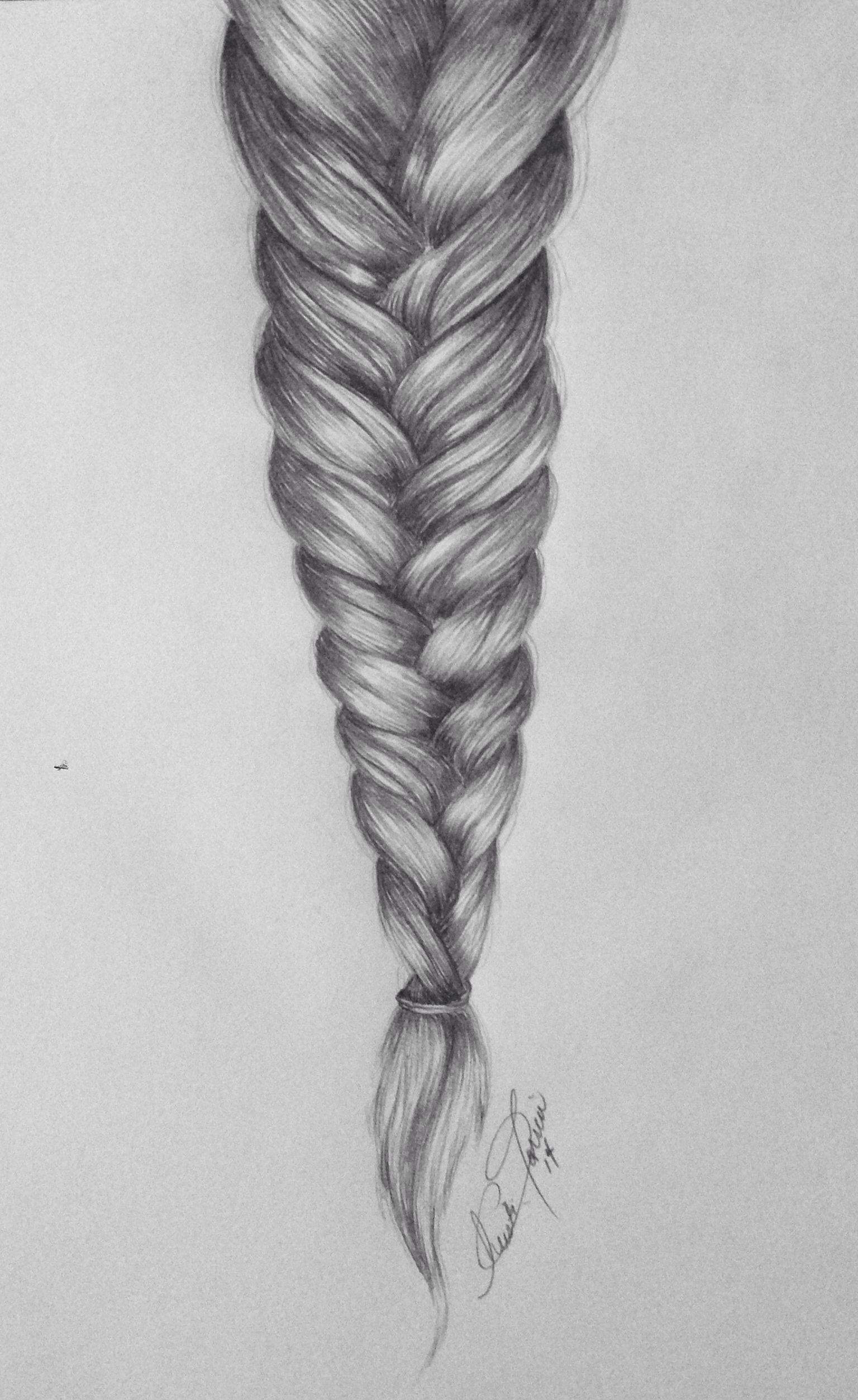 how to draw a braid i draw fashion - 736×1200