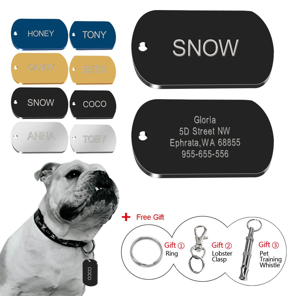 Custom Dog Tags Personalized Military Tags Engraved Pet Name Phone