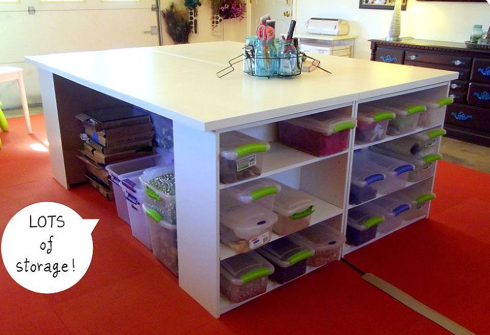 Craft tables with storage attempting to organize your creativity craft tables with storage attempting to organize your creativity solutioingenieria Image collections