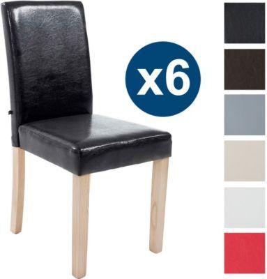 6 X Esszimmer Stuhl INA, Holzgestell Natura, Gastro Stuhl Kunstleder Bezug,  Sitzhöhe 47 Cm Jetzt Bestellen Unter: ...