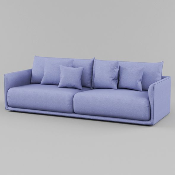 Vray Ready Luxury Blue Fabric Sofa Blue Fabric Sofa Fabric Sofa Blue Fabric