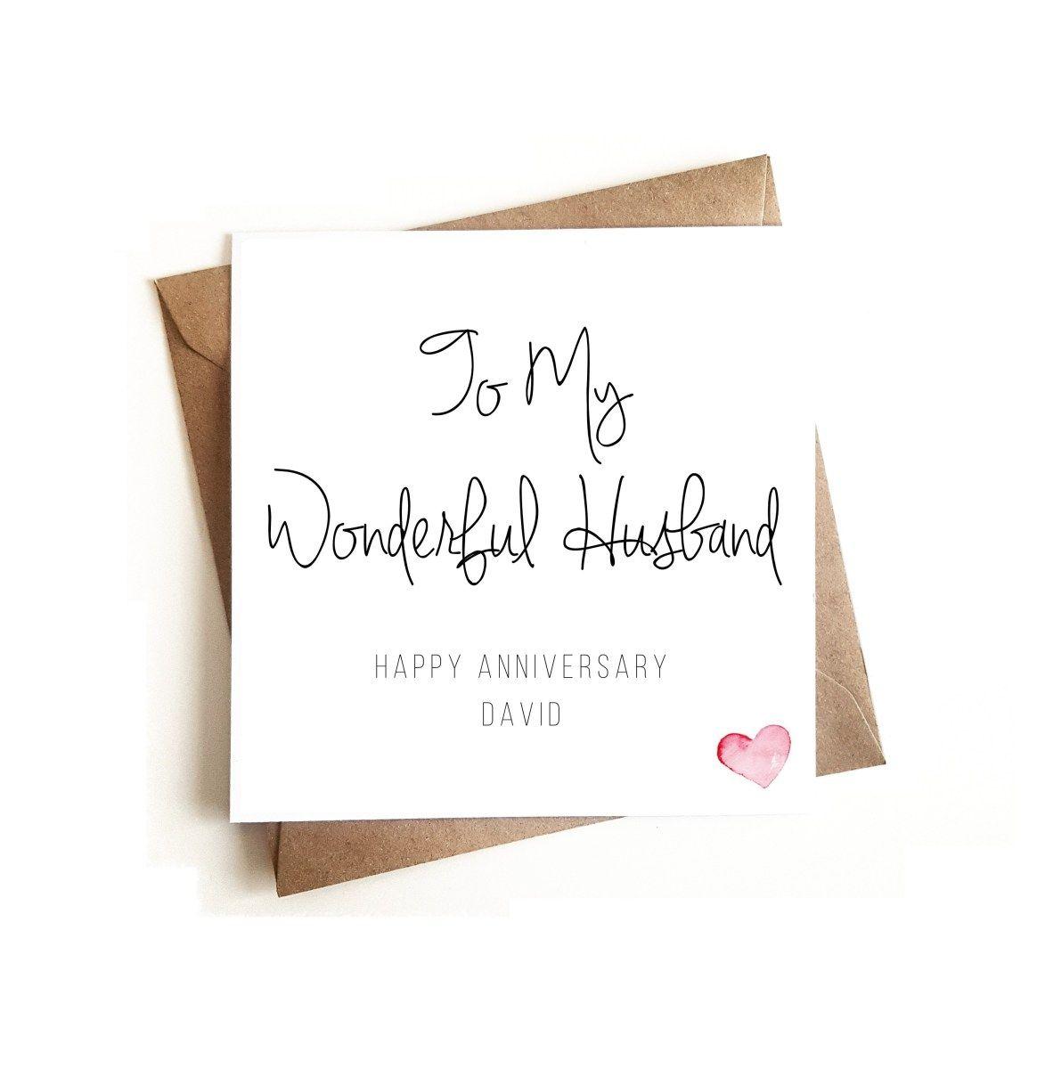 Husband Anniversary Card Ashley Higgins Design Greeting Cards Anniversary Cards For Husband Husband Birthday Card Personalized Anniversary Cards
