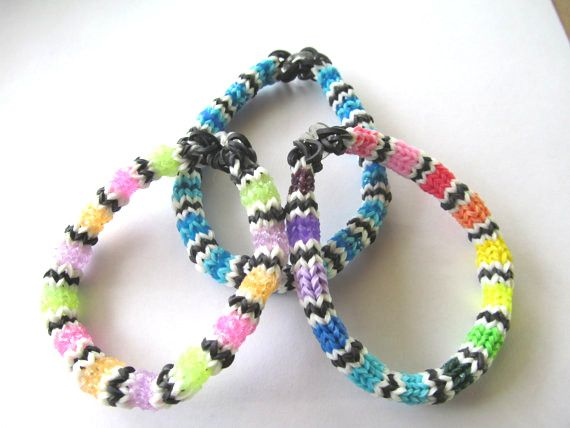 Rainbow Loom Hexafish Bracelets - Mexican Blanket, Glitter. #rainbowloom #loombracelets #rainbowloombracelets #accessories