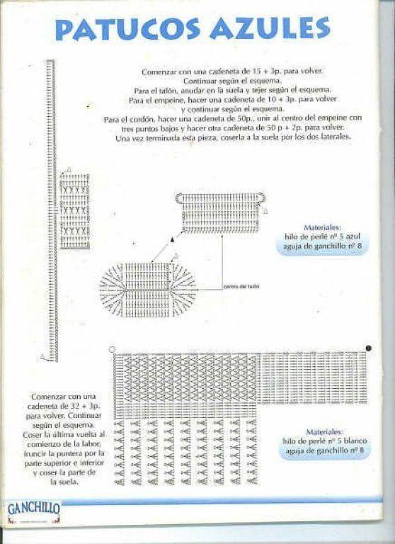 Patrones de patucos en ganchillo - Imagui | Encajes De Ganchillo ...