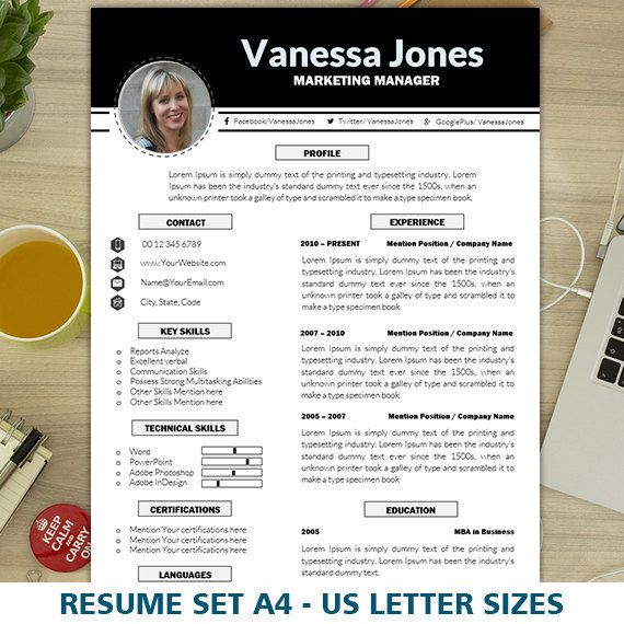 Marketing Resume Template, CV Template, Creative Resume Template