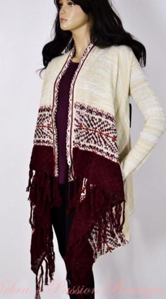 a2ffcbbf755 Almost Famous Fringe Cardigan | Tops & Blouses & Sweaters | Fringe ...