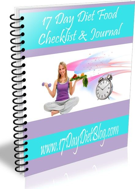 17 Day Diet Cycle Workbooks now available They include sample - food journal sample