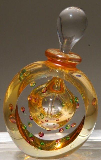 Roger Gandelman art glass perfume bottle