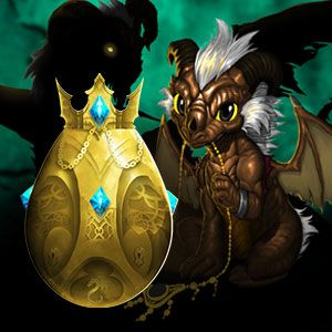 Gold Dragon and Egg from the game AdventureQuest Dragons