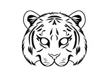 masken basteln tigerkopf zum ausdrucken und ausmalen für kinder | masken basteln, masken