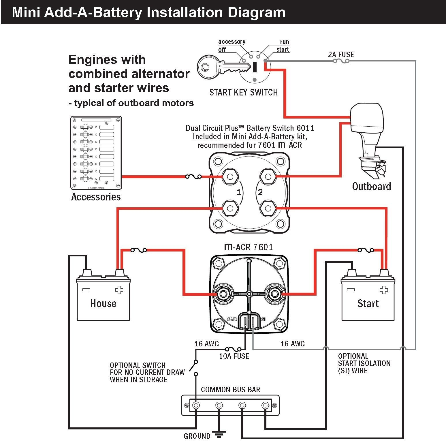 Blue Sea Acr Wiring Diagram Unique Inspirational Sure Power Battery In 2020 Subwoofer Wiring Boat Wiring Boat Battery