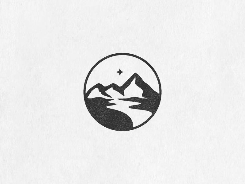 North Star Mountains by minimalexa #Design Popular #Dribbble #shots