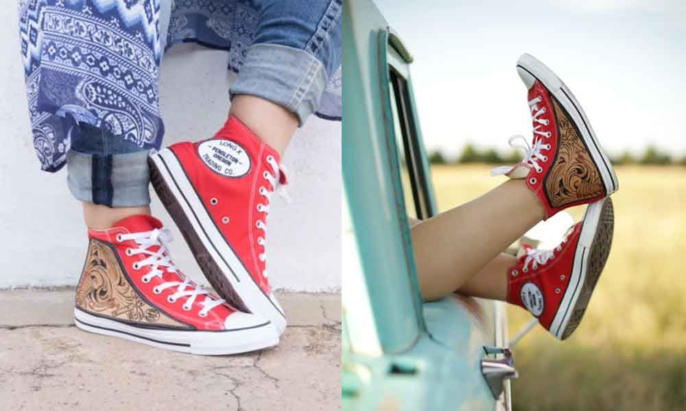 42ade92a5e7c39 Custom Converse By Long X Trading Co. - COWGIRL Magazine Custom Converse
