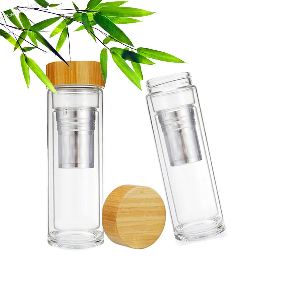 254f28d07 2016 New Wholesale Glass Bottle Tea Tumbler Travel Bottle