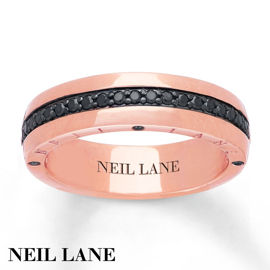Neil Lane Men S Ring 3 8 Ct Tw Diamonds 14k Rose Gold Rings For