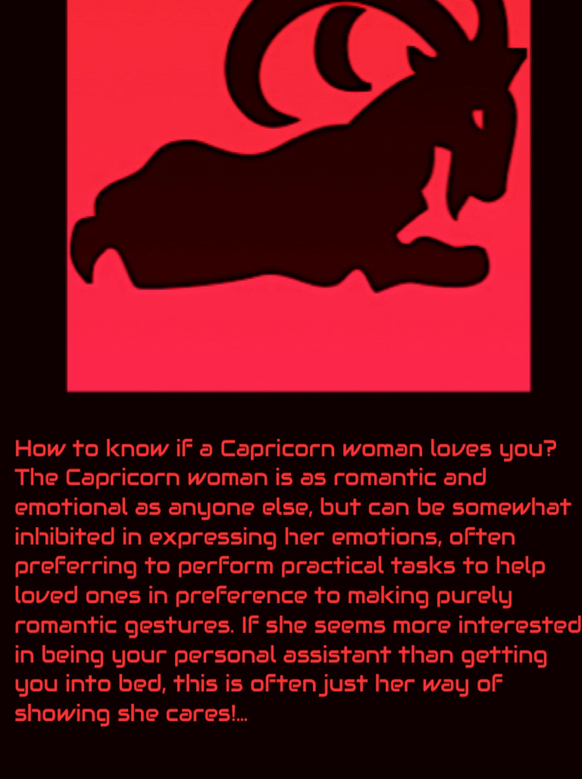 How to know if a Capricorn Woman Loves you  | capricorn