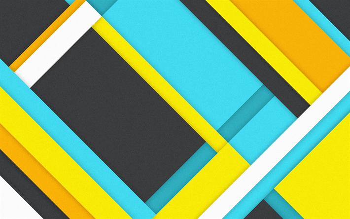 Fondo Geométrico: Download Wallpapers 4k, Material Design, Geometric Shapes