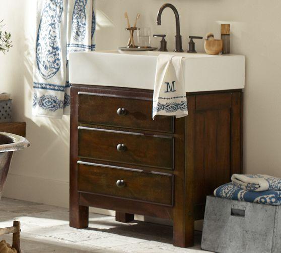 Mason Single Sink Vanity Rustic Mahogany Finish 30x18