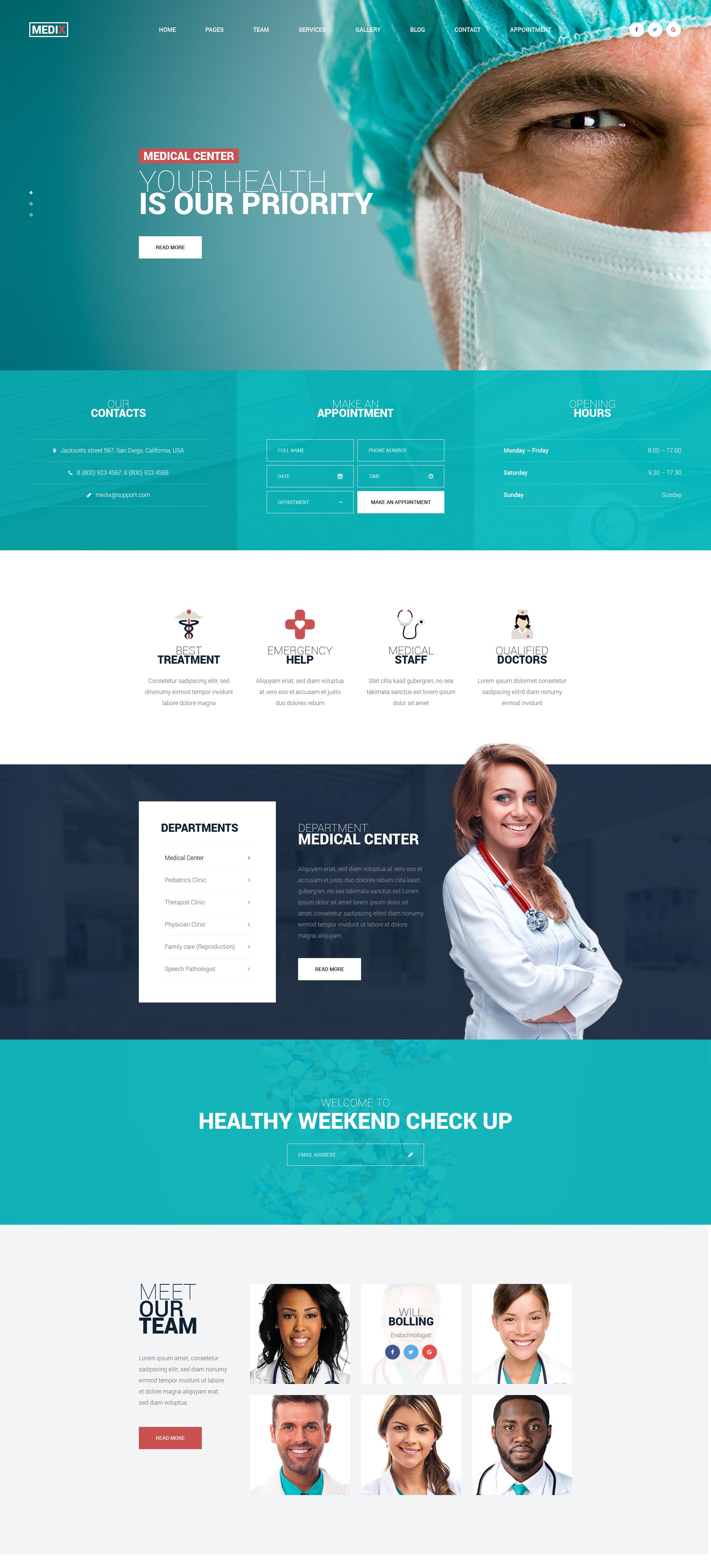 Medix Medical Clinic Html Template Modern Web Templates And Wordpress Themes Medical Website Design Medical Design Website Design Company