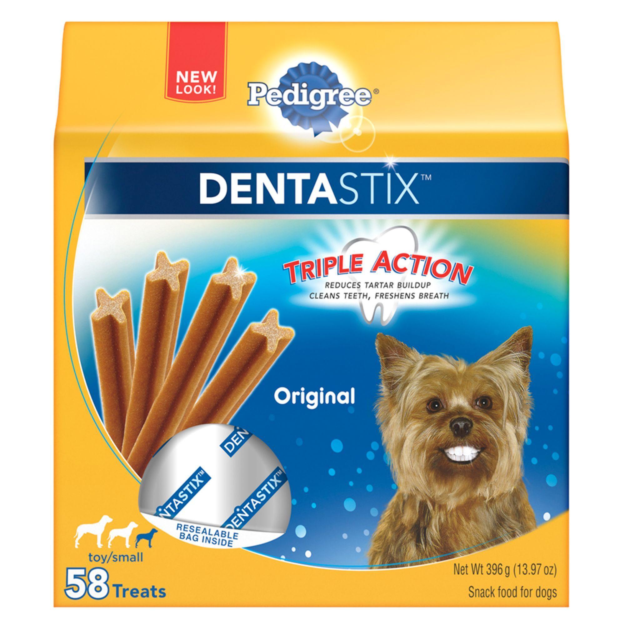 Pedigree Dentastix Mini Dog Sticks Size 58 Count Copper Green