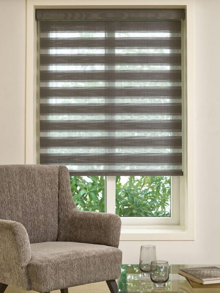 Window coverings shutters  made to measure brown duplex blinds from bolton blinds  persianas