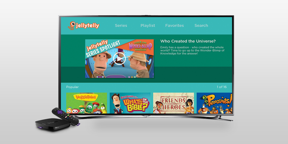 How do I use Jellytelly on my Roku? Bible heroes