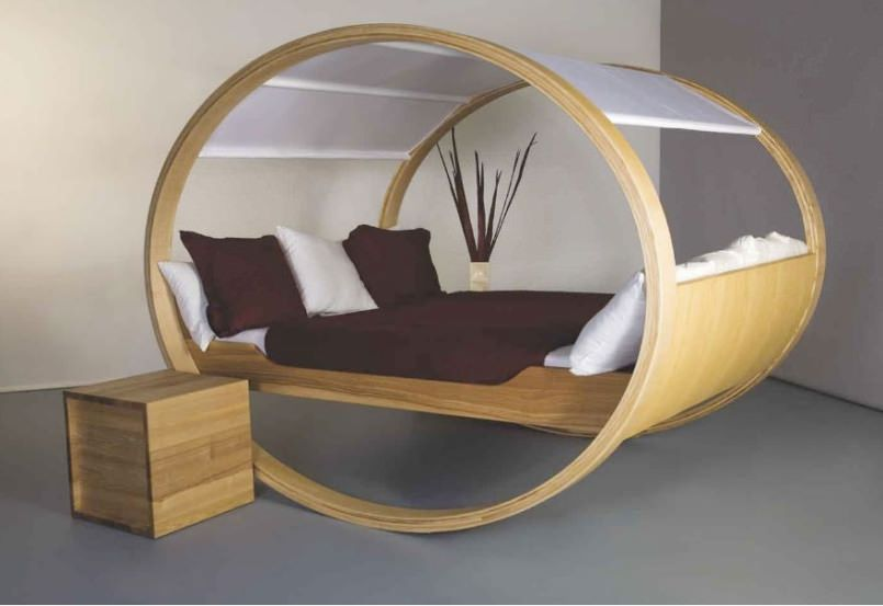 A bed that's also a rocking chair takes naps to the next level
