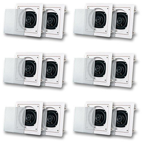 Acoustic Audio AS6S In Wall Speaker 6 Pair Pack 2 Way Home Theater 2400 Watt AS6S6PR >>> Want to know more, click on the image.Note:It is affiliate link to Amazon.