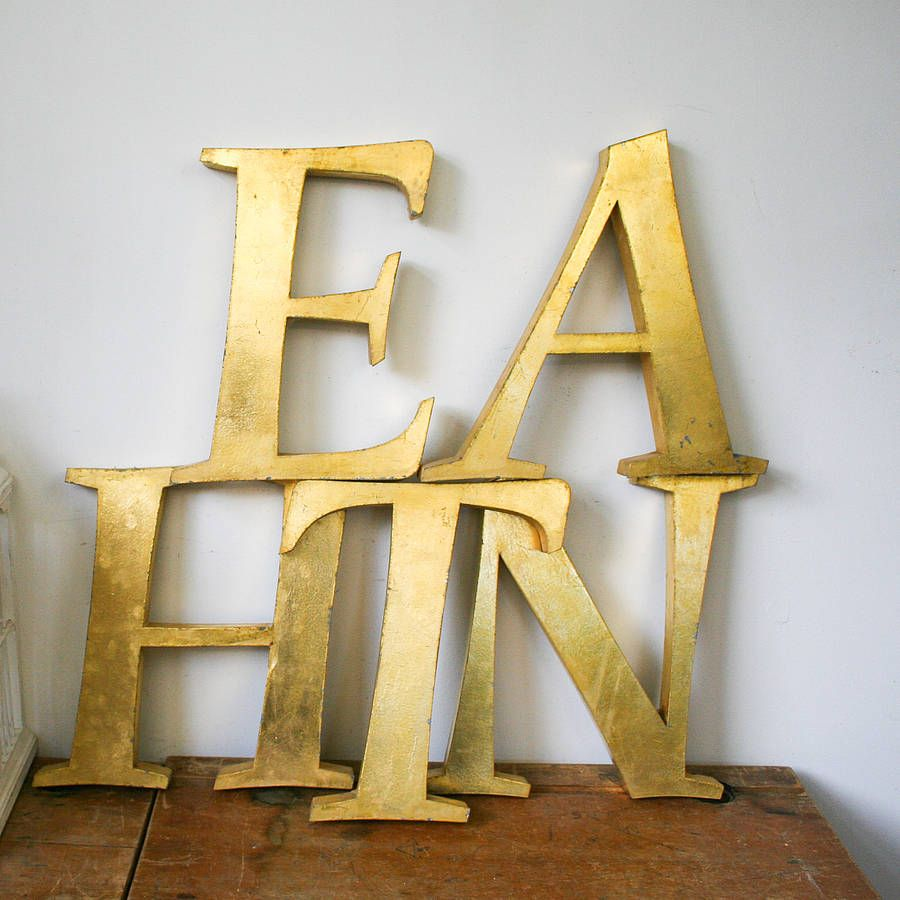 gold letter wall decor - People.davidjoel.co