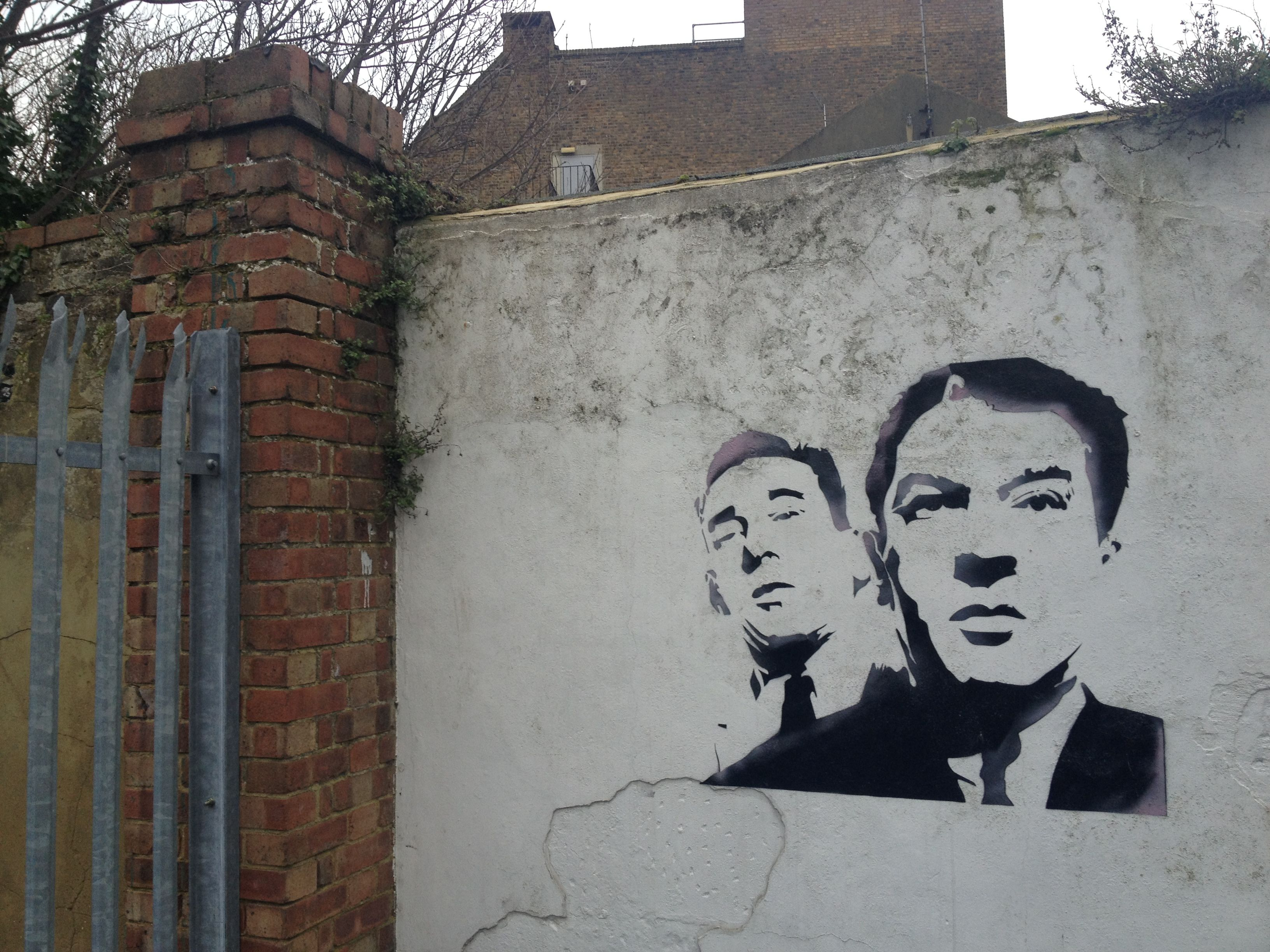 The Krays artwork found in Margate.